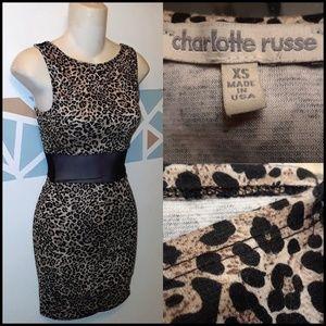 Dresses & Skirts - Cheetah Print Skin Fit Waist Band Mini Dress
